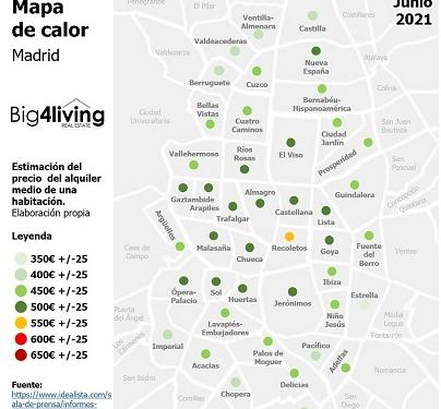 big4living-infografia-precios-alquiler-piso-habitación-madrid-2021-06-junio